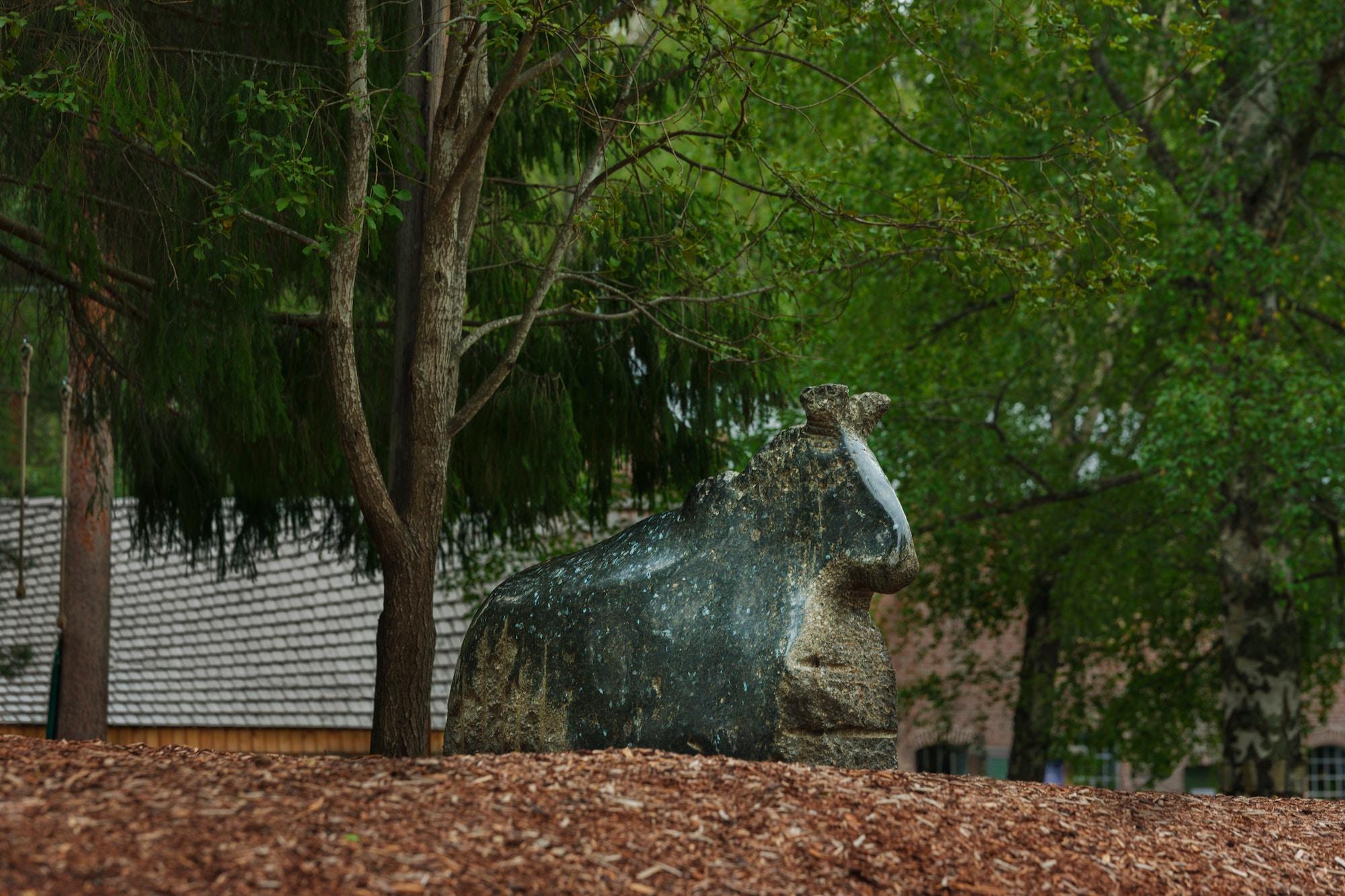 Sculpture, horse.